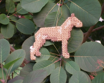 Pharaoh Hound #1 everyday dog Ornament for display or Christmas, double sided dog art, Clearance, Price Reduced 50% off