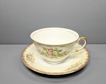 Meito China tea cup and saucer Burbank collection