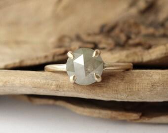 Prong Set Rose Cut Diamond Ring - Deposit