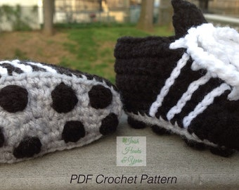 Instant Download - Soccer Cleats/Running Shoes PDF Crochet Pattern