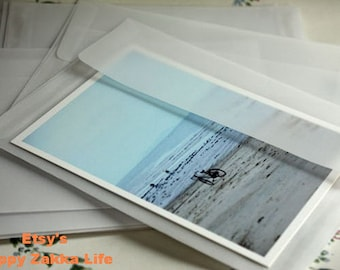 Translucent White Paper Envelope Set - 5 Sheets