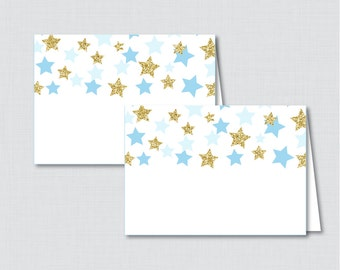 Printable Star Food Tent Labels Cards or Place Cards - Printable Instant Download - Twinkle Little Star Baby Shower Food Tent Cards - 0028-B