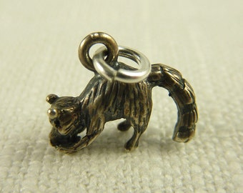 Vintage Sterling Ring Tailed Lemur Charm