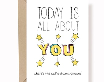 Funny Birthday Card - Best Friend Birthday Card - Birthday Card For Girlfriend - Card for Wife - All About You Birthday Card