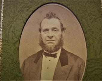 "Antique Photograph ""Grumpy Old Man"" Victorian Photography Curio"