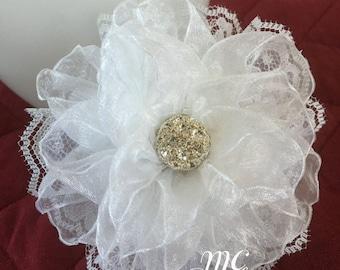 Headband flower,flowers for headbands,headband accessories,flower girl flowers,hair clip accessories,hair flowers,lace flowers,184