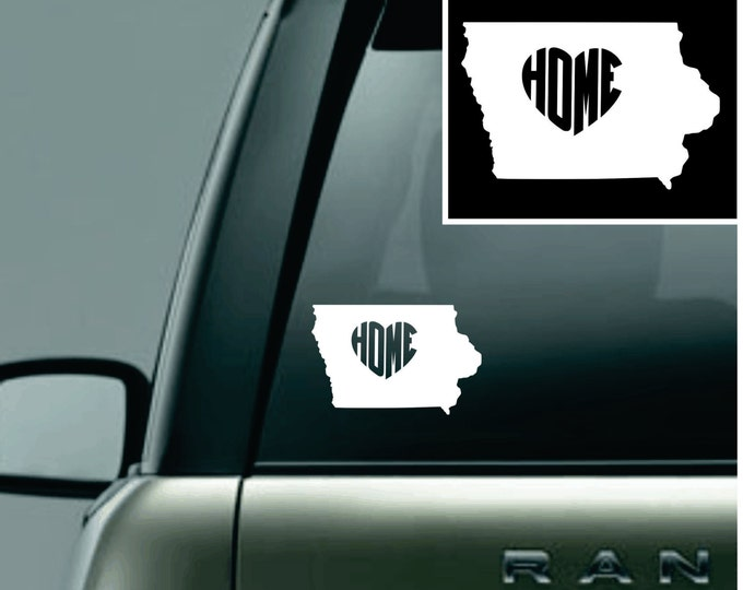 Iowa Love Your State Car Decal