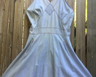 Vintage 70s denim dress