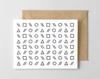 Shapes Letterpress Greeting Card