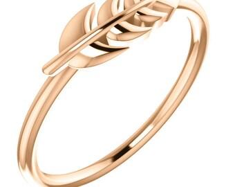 14kt Rose Leaf Ring