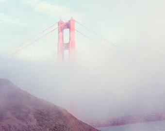 San Francisco Photography - Golden Gate Bridge - Travel Photography - California - Bridge - Fine Art Photography Print - Pastel Home Decor