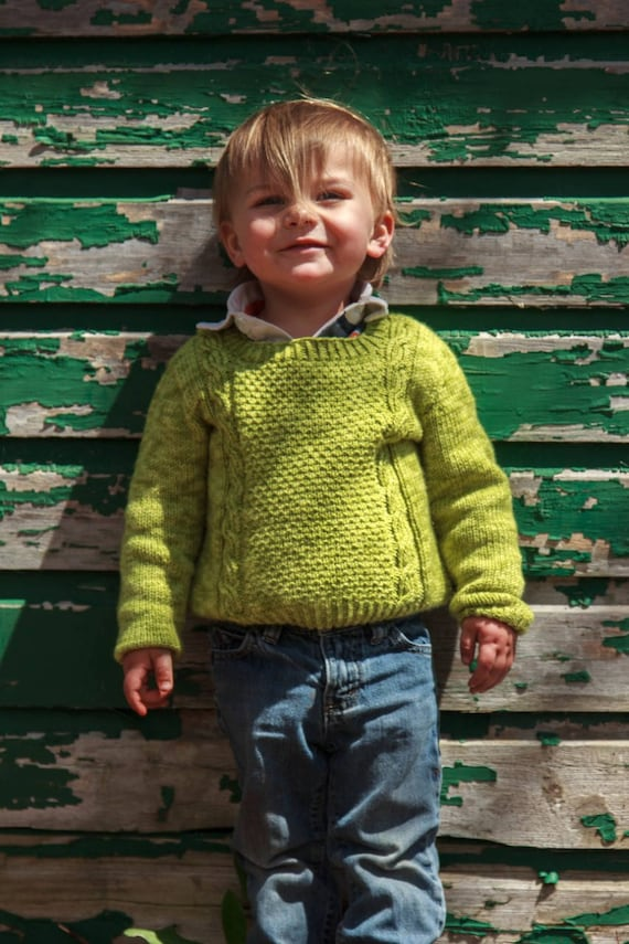 Sawston Pullover / Knitting Pattern / Child Sweater Knitting Pattern / Boys Knitting Pattern