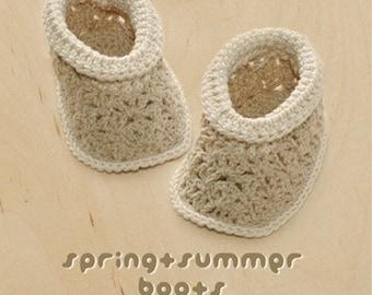 Spring Summer Khaki Boots Crochet PATTERN, SYMBOL DIAGRAM (pdf)
