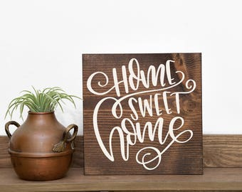 Home sweet home sign   Home sweet home   Closing gift   Home decor   Sign gift   Welcome gift   Housewarming gift   New home   wood sign