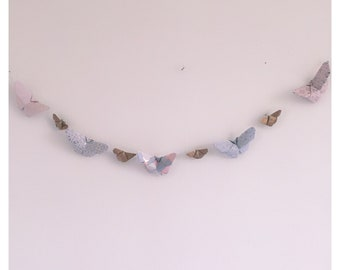 Gold and pink butterfly Garland