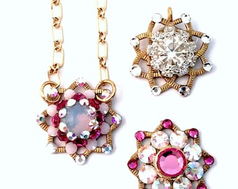 Swarovski Necklace, Opal Crystal Necklace, Swarovski Crystal, Swarovski Pendant, Crystal Pendant, Pendant Necklace, Gold Necklace, Swarovski