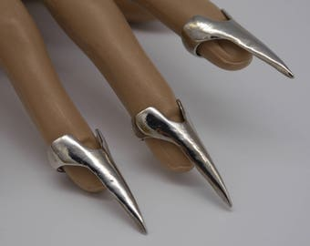 Gold or Silver Claw Finger Rings Tips