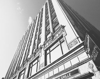 Foxtown Grille Detroit - New Vintage Photograph - Black and White