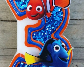 Finding Dory Birthday Candle, Finding Nemo Birthday Candle