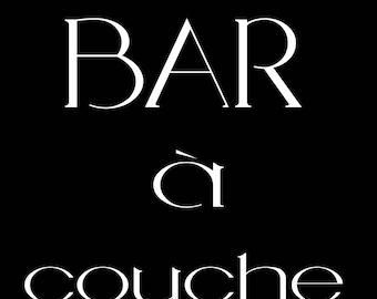 Bar à couche