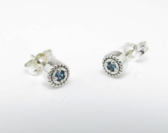 March Birthstone Stud Earrings, Sterling Silver, The Generations Collection