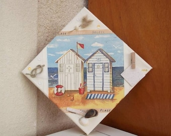 a small side retro for these beach huts!