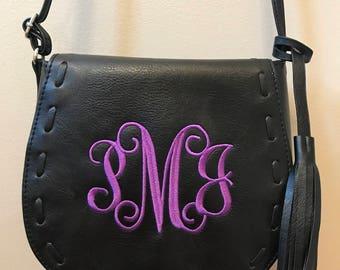 Black Saddle Bag Crossbody Purse Everyday Bag Adjustable Strap Lined Interior Pocket