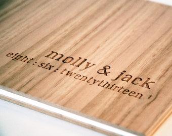 Wedding Album, Custom Engraved Wood Guest Book, Wedding Guest Book, Engagement Gift, Bridal Shower