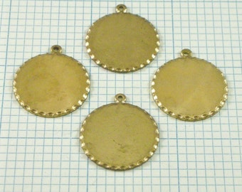 4 7/8-inch Blank Brass Charms