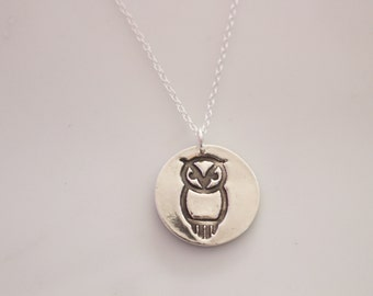 Chi Omega Owl Necklace // Owl Necklace // Chi O Jewelry // Chi Omega sorority Necklace // Greek Licensed Jewelry // XO Mascot Necklace
