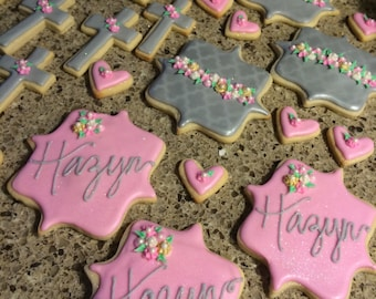 Custom Cookies... Custom Baptism Cookies... Birthday Cookies