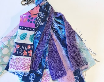 Fabric Tassel Key Chain FOB Journal Charm Backpack Purse Planner - UPCH