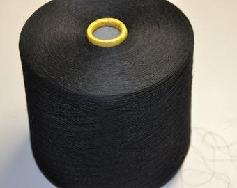 1 spool 1,3 g  cashmere wool yarn black 60 number metric knitting or weaving