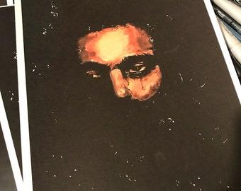 My dear melancholy,  art print