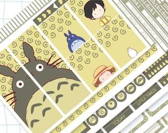 Cute Totoro Vertical Weekly Planner Kit for Erin Condren Planner   Cute Weekly Kit  Planner Weekly Kit   Planner Kit  Eclp Stickers  Kawaii