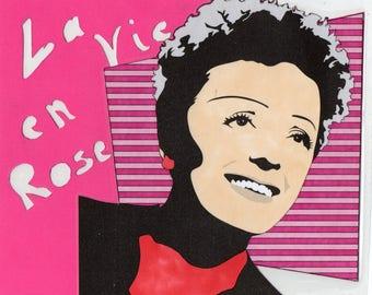 Edith Piaf art deco laminated design