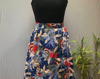 Super 70's, Butterfly motif wrap skirt, gorgeous colors!