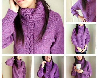 Top down Cozy weekend sweater- (knitting pattern PDF download)