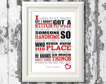 The Smiths This Charming Man 8x10 picture mount & Print Typography song music lyric for self framing