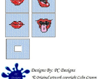 Lips Tissue Box Cover Plastic Canvas Pattern