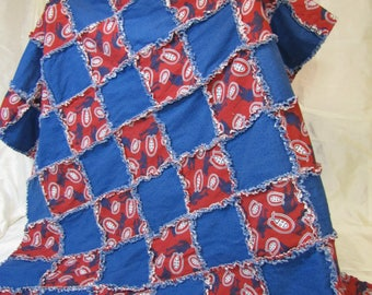 Hand made Montreal Canadiens Throw