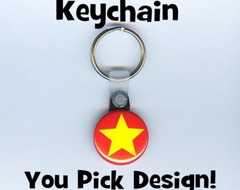 Button Keychain - any design you want