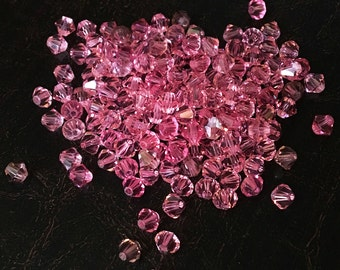Pink Swarovski Crystals 4mm - set of 161 - Priced Under Wholesale