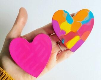 Large heart crayon