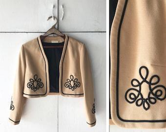 1960's Cropped Bolero Jacket | Vintage Women's Blazer | Women's 60's Jacket