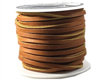Lace Lacing Leather Topgrain Light Sienna Brown 50 Foot Spool