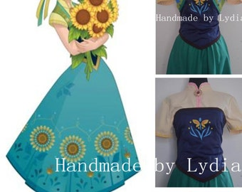 Handmade - Frozen Fever Dress Anna Dress, Frozen Fever Costume Halloween Costume