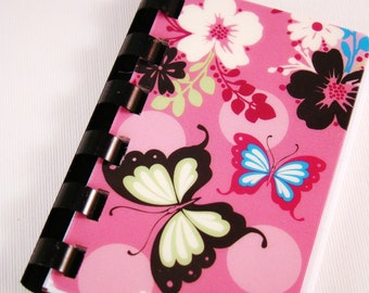 Pink Butterfly --  Gift Card Notebook