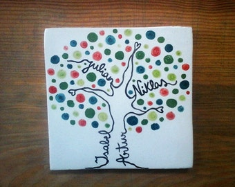 Family tree wall art; Family tree sign; Family Tree gift; Personalized gift; Family ornament; Custom gift for family; Family sign.