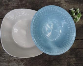 Vintage Serving Bowls Blue and White Set of 2 Vegetable Fruit Berry Bowls Royal Norfolk